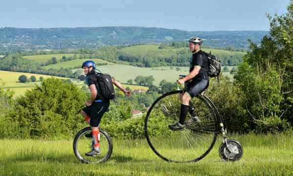 south-downs-challeng-on-penny-farthing-and-unicycle